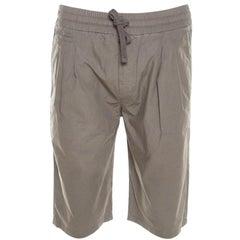 Dolce and Gabbana Olive Green Pigment Dyed Elasticized Waist Bermuda Shorts M