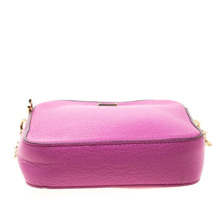 Dolce and Gabbana Pink Leather Crossbody Bag For Sale 1