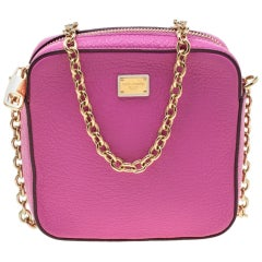Dolce and Gabbana Pink Leather Crossbody Bag
