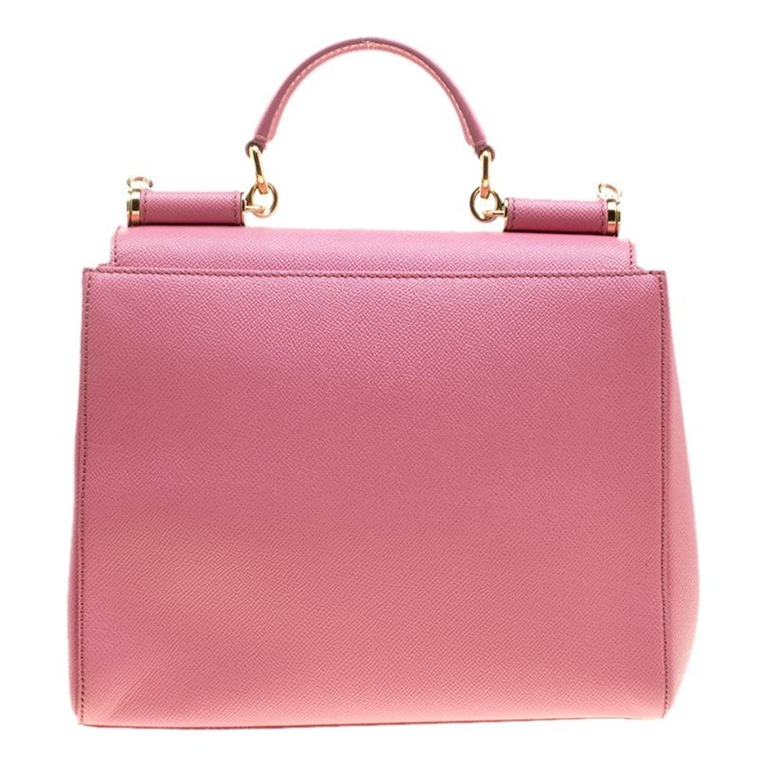 e437e5f7c Dolce and Gabbana Pink Leather Medium Miss Sicily Top Handle Bag For Sale  at 1stdibs