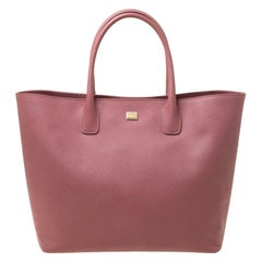 Dolce and Gabbana Pink Leather Miss Alma Tote