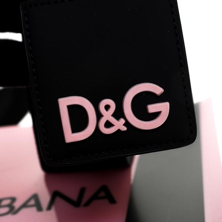 Dolce and Gabbana Pink PVC Street Shopper Tote For Sale 4