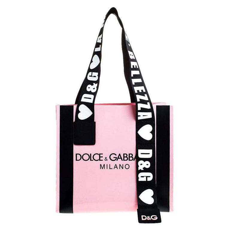 Dolce and Gabbana Pink PVC Street Shopper Tote For Sale