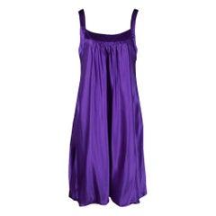 Dolce and Gabbana Purple Silk Satin Sleeveless Balloon Dress S