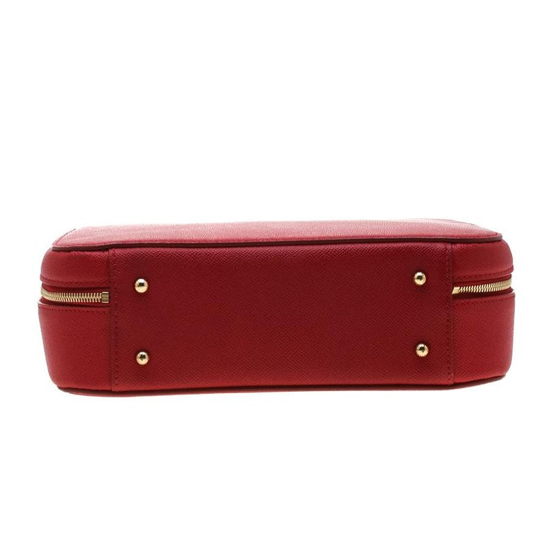 Dolce and Gabbana Red Leather Case Top Handle Bag For Sale 1