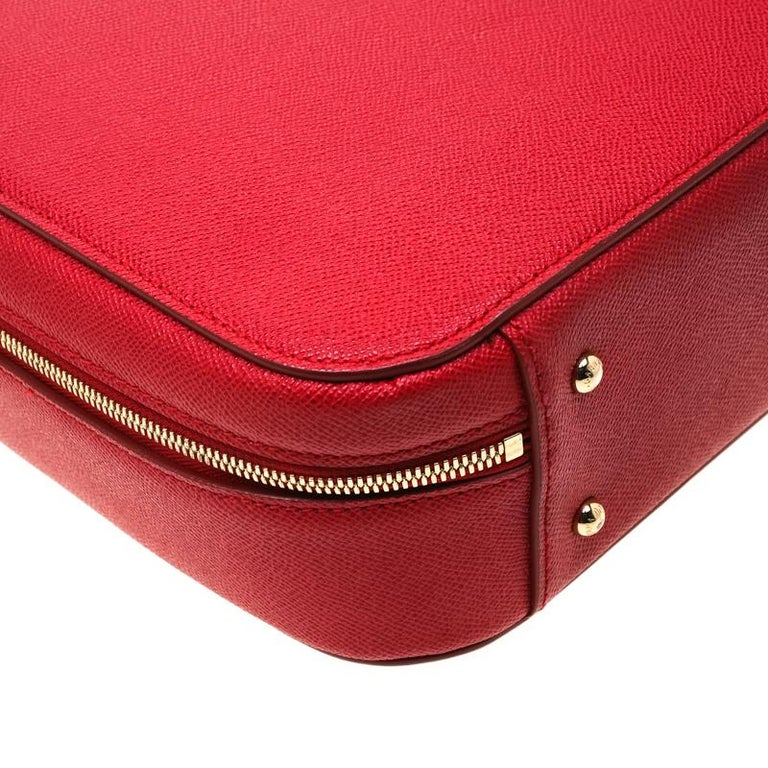 Dolce and Gabbana Red Leather Case Top Handle Bag For Sale 2
