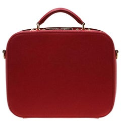 Dolce and Gabbana Red Leather Case Top Handle Bag