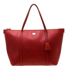 Dolce and Gabbana Red Leather Miss Escape Tote