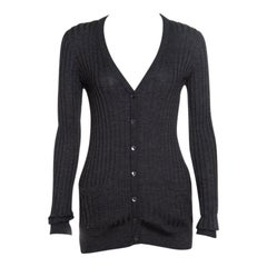 Dolce and Gabbana Rib Knit Button Front Cardigan S