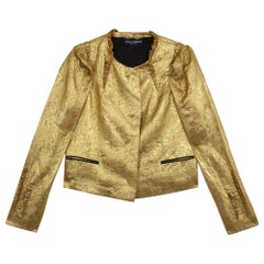 Dolce and Gabbana Silk Brocade Evening Jacket S