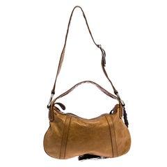 Dolce and Gabbana Tan/Brown Leather Shoulder Bag