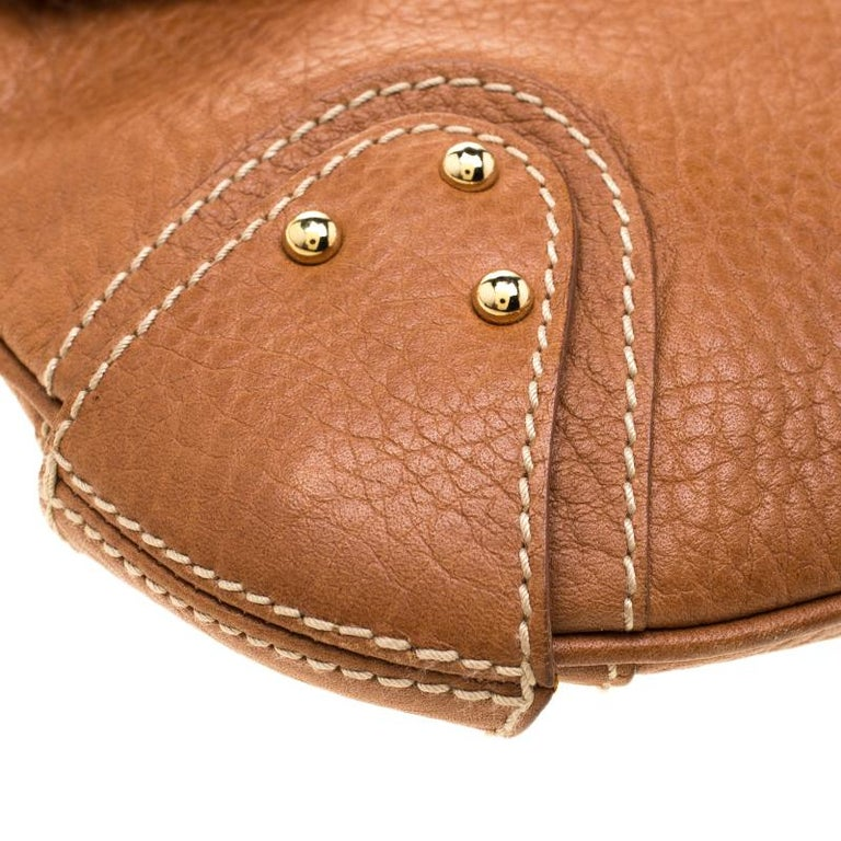 Dolce and Gabbana Tan Leather D-Ring Hobo For Sale 2
