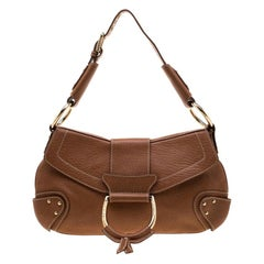 Dolce and Gabbana Tan Leather D-Ring Hobo