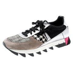 Dolce And Gabbana Tricolor Pony Hair Patchwork Capri Sneakers  Size 41