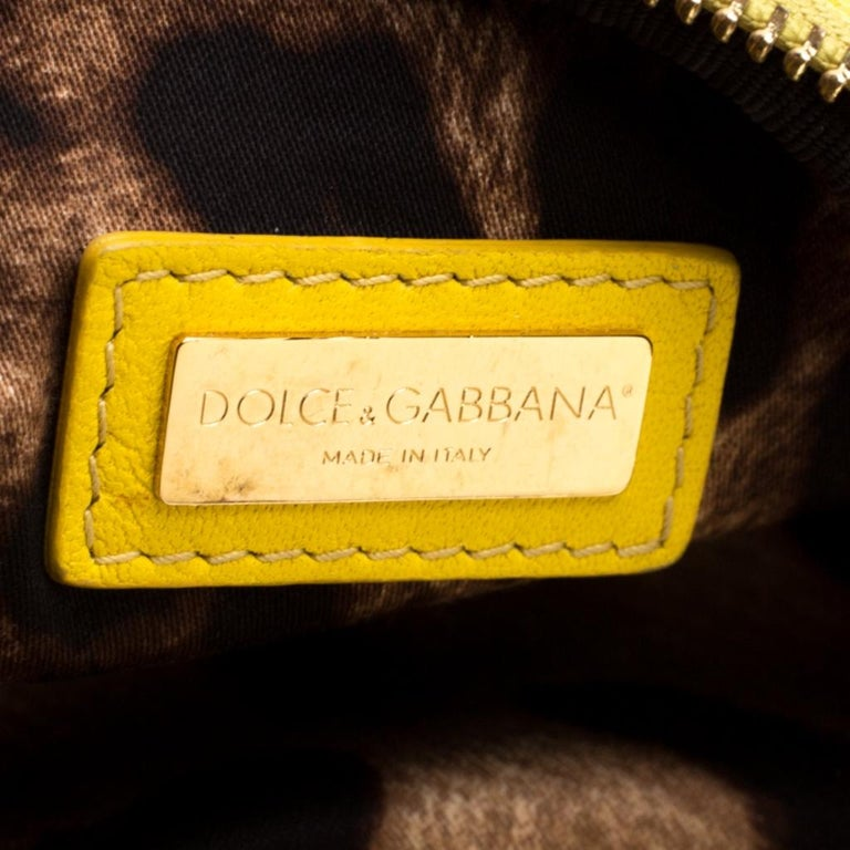 Dolce and Gabbana Yellow Quilted Leather Crossbody Bag 2