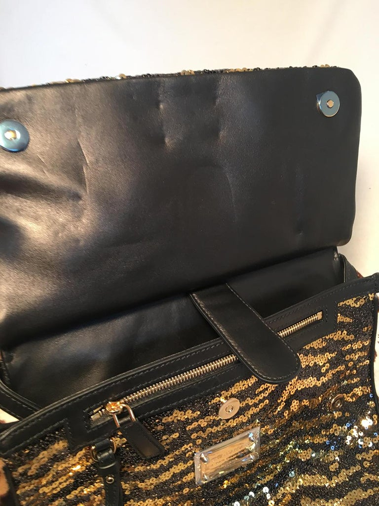 b56019411daa Dolce and Gabbana Zebra Sequin and Leopard Print Fur Miss Sicily Bag For  Sale 6