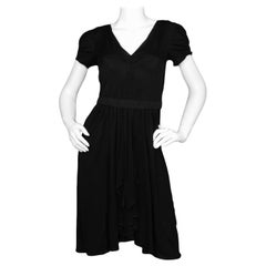 Dolce & Gabana Black Jersey Dress w/ Short Sleeves sz 38
