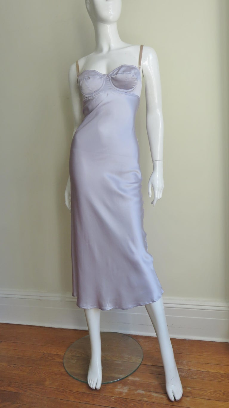 Dolce & Gabbana Lilac Silk Dress For Sale 4