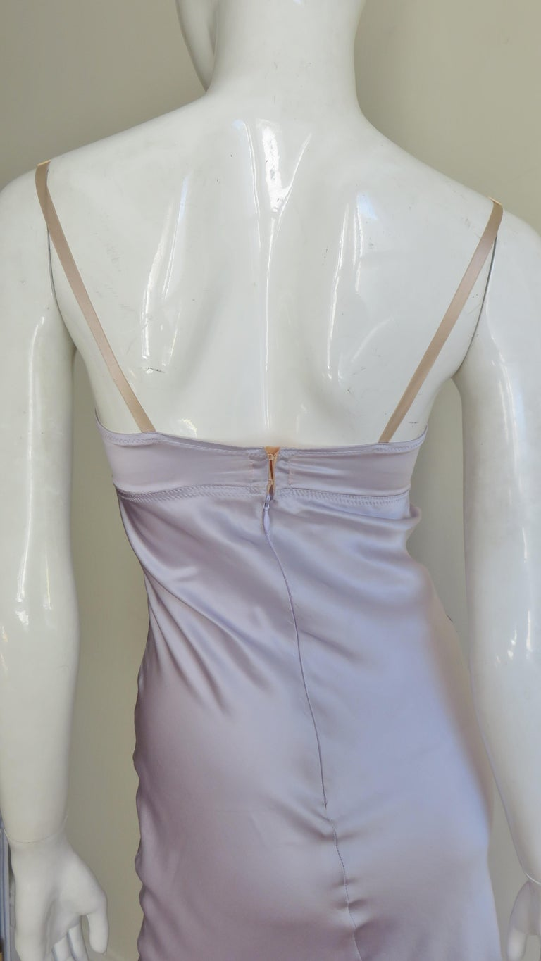Dolce & Gabbana Lilac Silk Dress For Sale 6