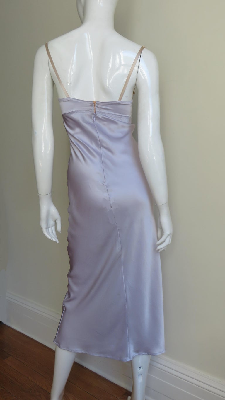 Dolce & Gabbana Lilac Silk Dress For Sale 5