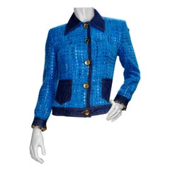 Dolce & Gabbana 2000s Tweed Denim Jacket
