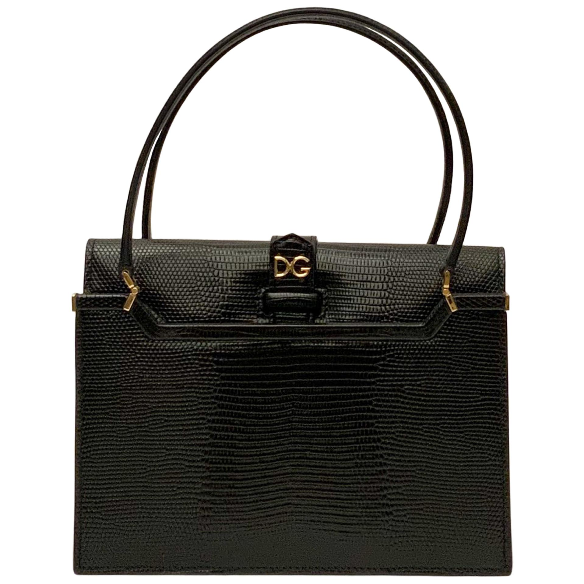 Dolce & Gabbana 2020 Small Iguana Print Ingrid Bag