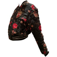 """Dolce & Gabbana """"Amore"""" Floral Brocade Bomber Jacket W/ Fab Floral Lining"""