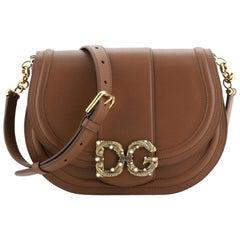 Dolce & Gabbana Amore Messenger Bag Leather Medium