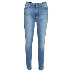 Dolce & Gabbana Azure Stretch Denim Pretty Fit Jeans IT 42