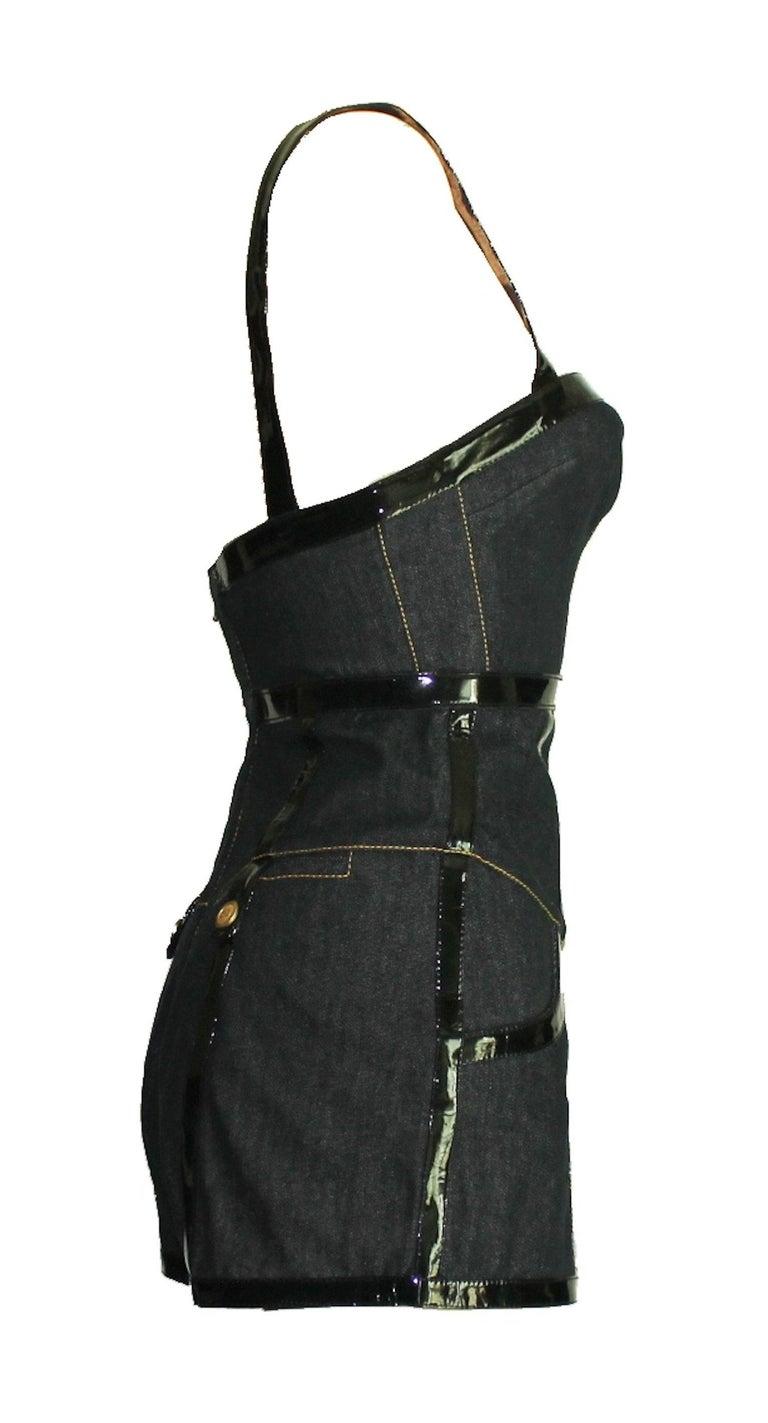 Dolce & Gabbana Belted Bondage Denim Bodysuit Jumpsuit Romper In New Condition For Sale In Switzerland, CH