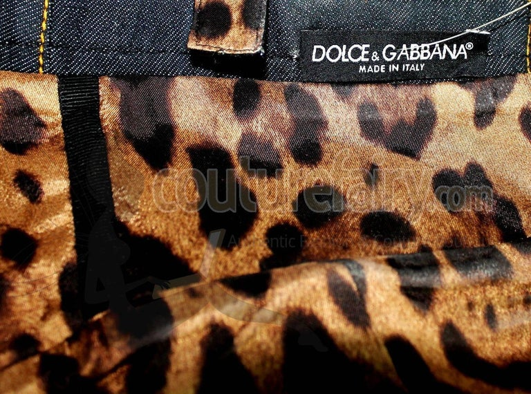 Dolce & Gabbana Belted Bondage Denim Bodysuit Jumpsuit Romper For Sale 2