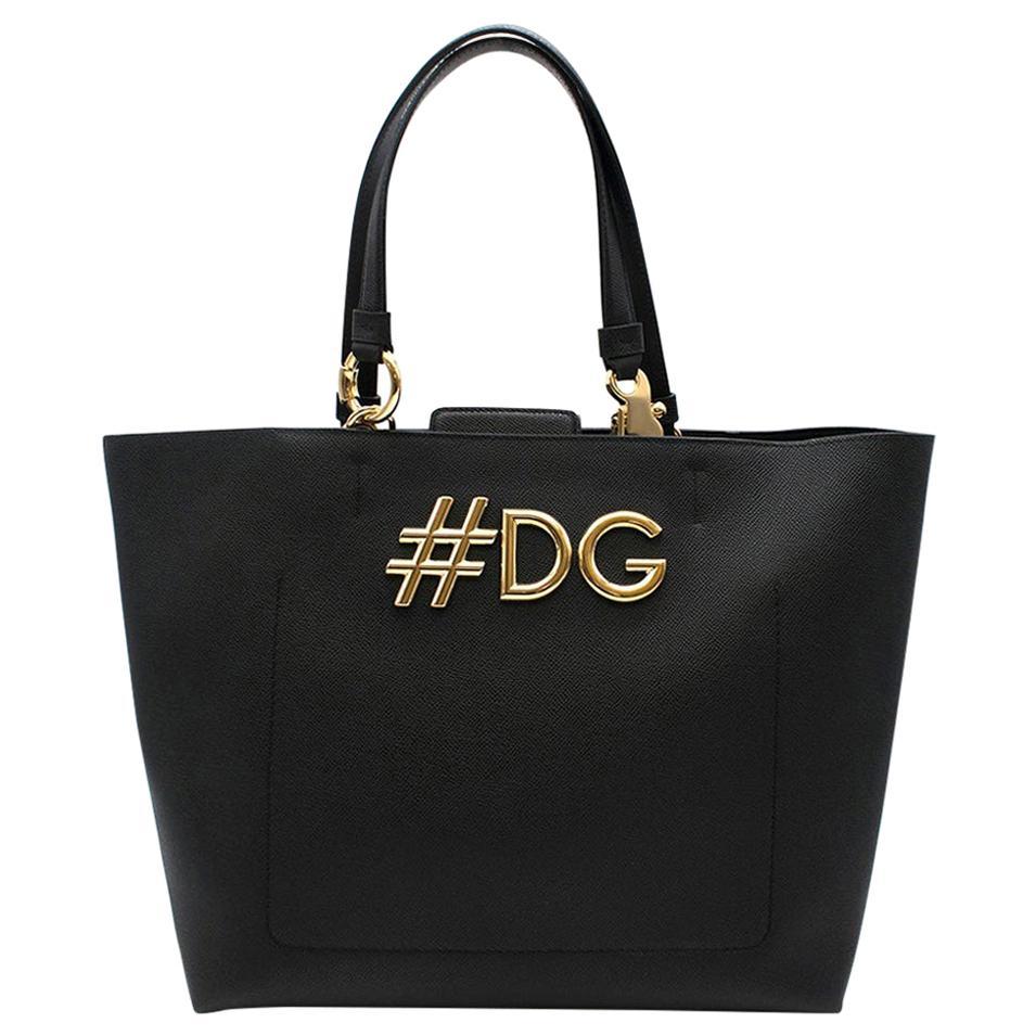 Dolce & Gabbana Black Beatrice Shopping Bag