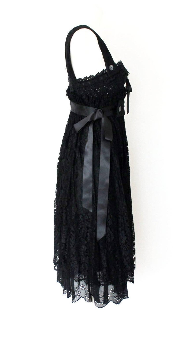 Women's Dolce & Gabbana Black Corset Lace Dress For Sale