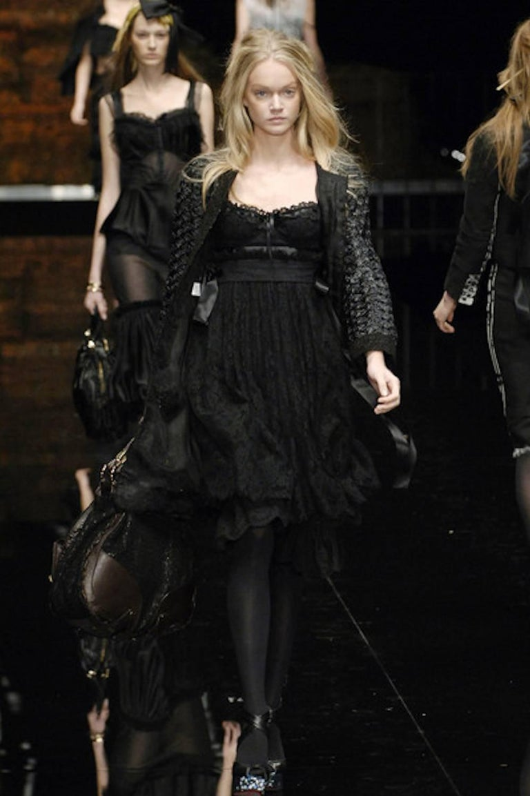 Dolce & Gabbana Black Corset Lace Dress For Sale 5