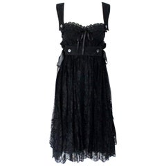 Dolce & Gabbana Black Corset Lace Dress