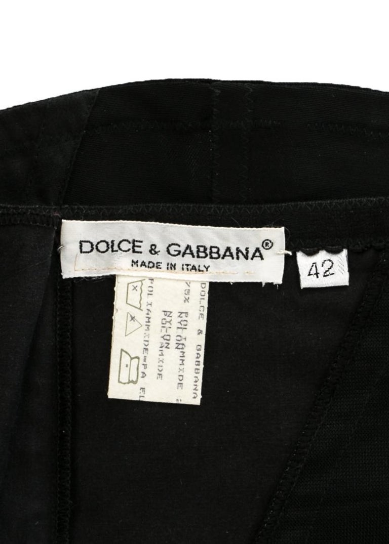 Dolce & Gabbana black corseted lace up spandex mini skirt, A/W 1997 For Sale 1