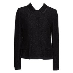 Dolce & Gabbana Black Cotton Silk Floral Lace Jacket M