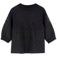 Dolce & Gabbana Black Cut-Out Embroidery Sweatshirt IT 40