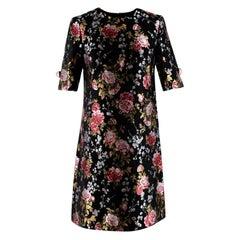 Dolce & Gabbana Black Floral Brocade Dress - Size US 2