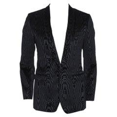 Dolce & Gabbana Black Jacquard Velvet Tuxedo Jacket M