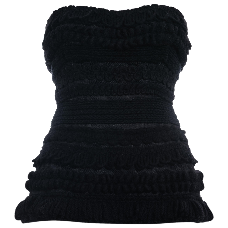 Dolce & Gabbana black knitted wool strapless corset, fw 2010