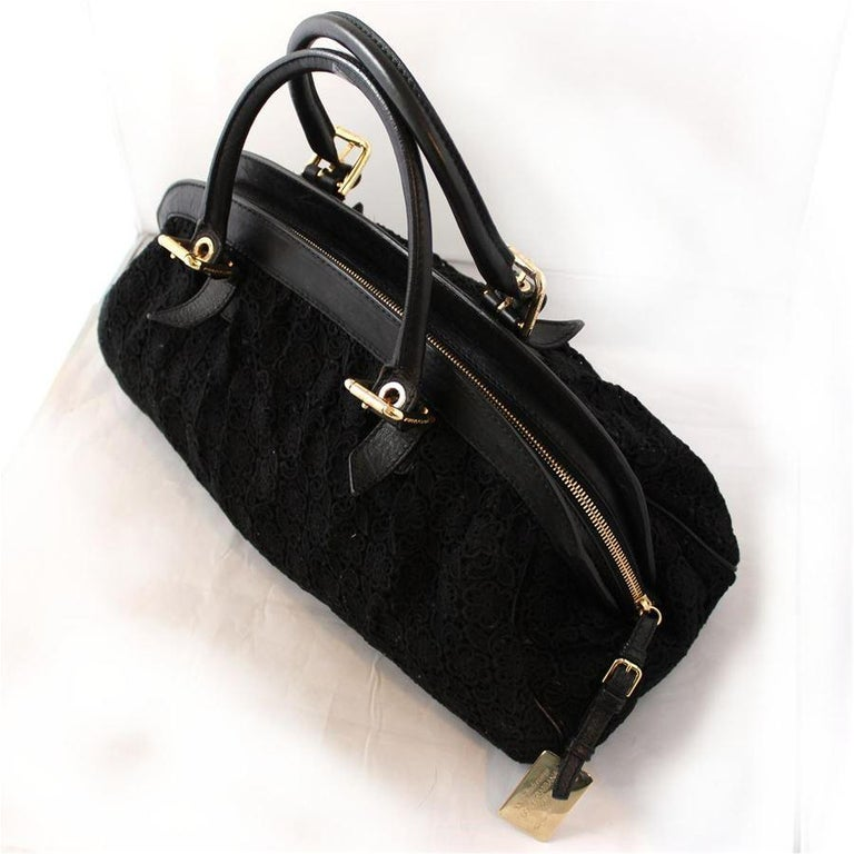Dolce & Gabbana Black Lace Bag In Excellent Condition For Sale In Gazzaniga (BG), IT