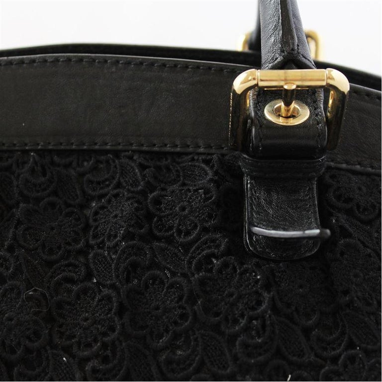 Women's Dolce & Gabbana Black Lace Bag For Sale