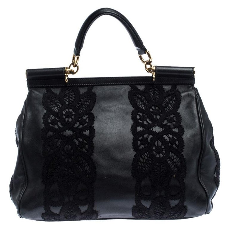 The Miss Sicily handbag is one of the most celebrated creations from Dolce & Gabbana. It is a design that has seen countless adaptations. This bag here beautifully embodies the spirit of extravagance and femininity that the Italian luxury brand