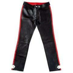 Dolce & Gabbana black leather biker pants, ss 2001