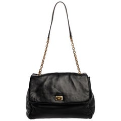 Dolce & Gabbana Black Leather Chain Shoulder Bags