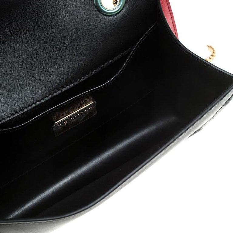 Women's Dolce & Gabbana Black Leather DG Amore Chain Shoulder Bag For Sale