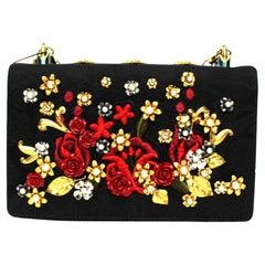Dolce & Gabbana Black Leather Girls Bag