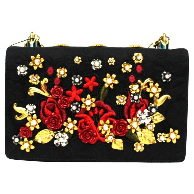 Dolce & Gabbana Black Leather Girls Bag For Sale