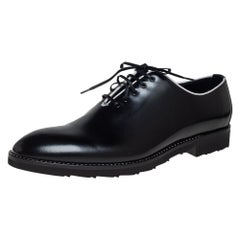 Dolce & Gabbana Black Leather Lace Up Derby Size 45